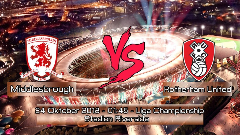 Prediksi Skor Pertandingan Middlesbrough vs Rotherham United 24 Oktober 2018
