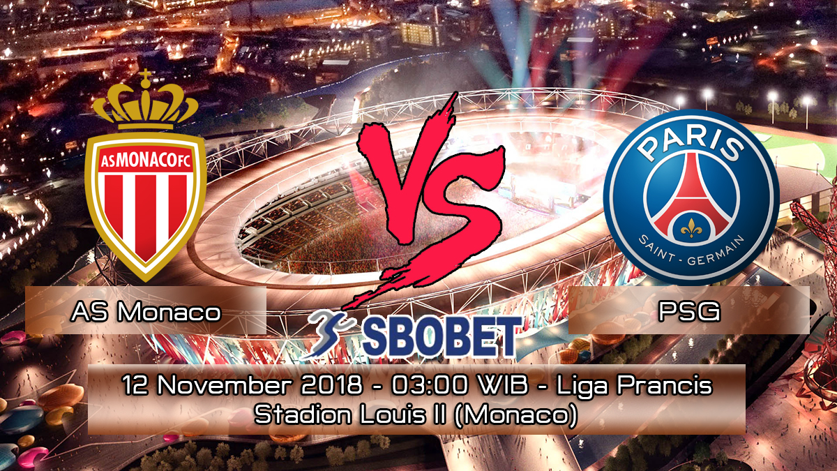 Prediksi Skor Pertandingan AS Monaco vs PSG 12 November 2018