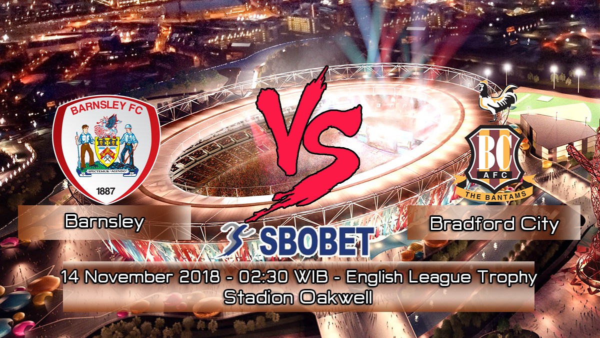Prediksi Skor Pertandingan Barnsley vs Bradford City 14 November 2018