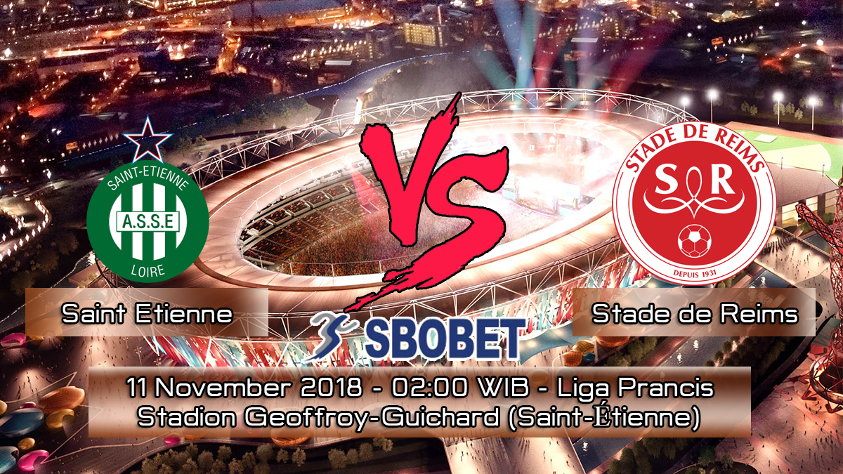 Prediksi Skor Pertandingan Saint Etienne vs Stade de Reims 11 November 2018